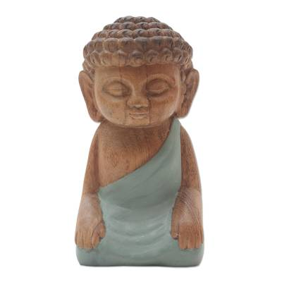 Hand Carved Small Buddha Statuette