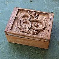 Decorative wood box, 'Ong-Kara'