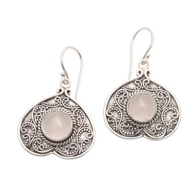 Handmade Natural Moonstone Dangle Earrings