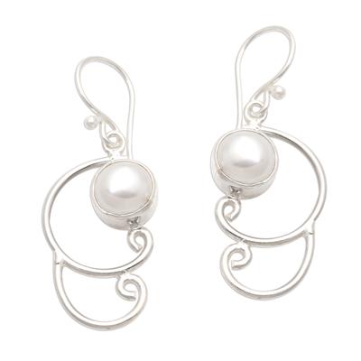 Sterling Silver Cultured Pearl Dangle Earrings