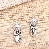Sterling silver dangle earrings, 'Royal Fruit' - Sterling SIlver Dangle Earrings from Bali