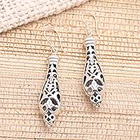 Sterling silver dangle earrings, 'Exotic Lantern' - Exotic Lantern-Like Sterling Silver Earrings