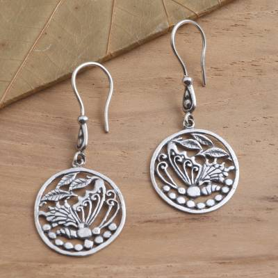 Sterling silver dangle earrings, 'Gentle Butterfly' - Butterfly Motif Earrings in Sterling Silver
