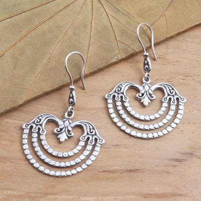 Sterling silver dangle earrings, 'Brilliant Chandelier' - Women's Sterling Silver Dangle Earrings