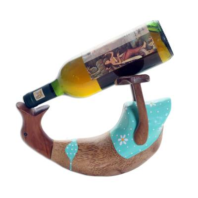 Cute Hand Carved and Painted Duck Bottle Holder