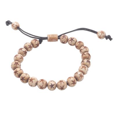 Beaded bracelet, 'Starry Night' - Artisan Crafted Beaded Bracelet from Bali