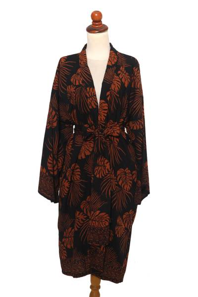 Handmade Batik Printed Rayon Robe