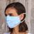 Cotton face masks 'Sky Inspiration' (set of 3) - 3 Filter Pocket Double Cotton Print Masks in Blue Shades (image 2b) thumbail