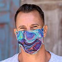 Cotton face masks 'Island Trends' (set of 3) - Three Assorted Single Layer Cotton Print Elastic Loop Masks