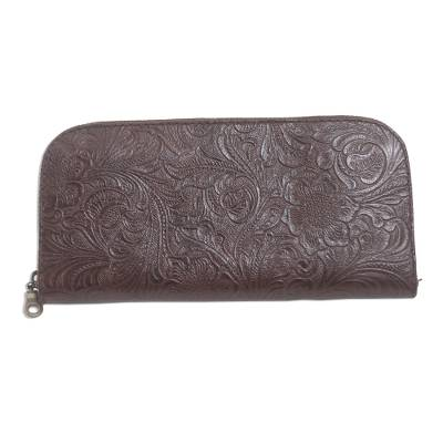 Hand Tooled Brown leather Wallet