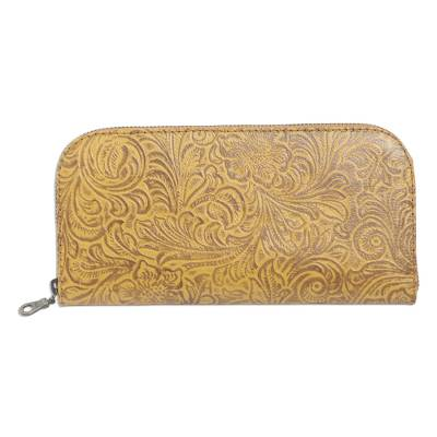 Handmade Yellow Leather Wallet from Bali