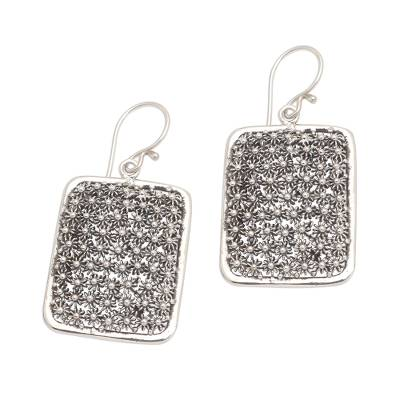 Sterling silver dangle earrings, 'Sparkle Lights' - Hand Crafted 925 Sterling Silver Dangle Earrings