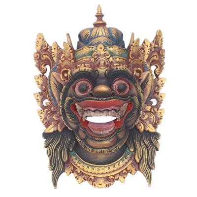 Kumbakarna Wood Mask Handpainted from Bali