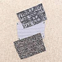 Cotton face masks 'Wise as the Serpent' (set of 3) - 3 Snakeskin Print Single Layer Cotton Face Masks