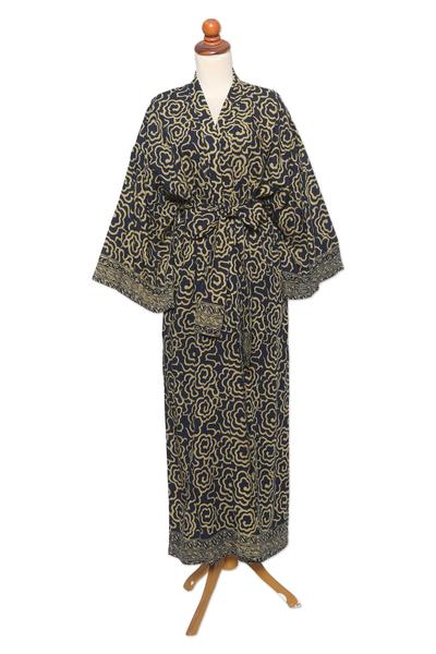 Hand Crafted Batik Rayon Robe