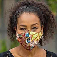 Rayon face masks 'Colors of Nature' (set of 3) - 3 Colorful Nature Print 2-Layer Rayon Ear Loop Face Masks
