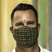 Cotton face masks, 'A Proper Plaid' (set of 3) - Set of 3 Plaid Cotton Face Masks with Elastic Ear Loops