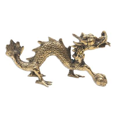 Hand Crafted Brass Dragon Statuette