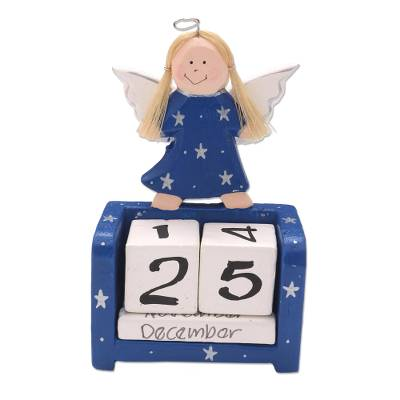 Artisan Crafted Blue Angel Perpetual Calendar