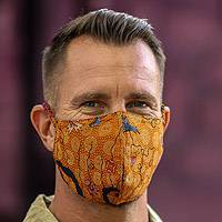 Cotton face masks, 'Traditional Batik' (set of 3)