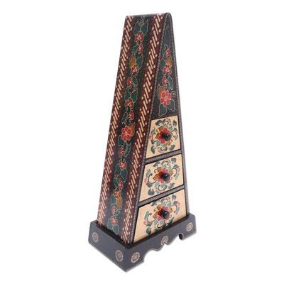 Hand Crafted Decorative Floral Batik Box