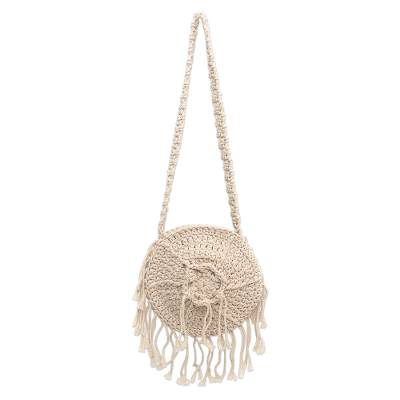 Balinese Cotton Crocheted Shoulder Bag