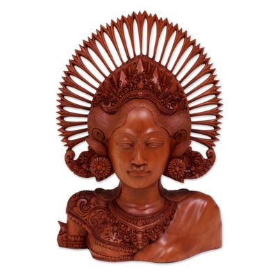 Wood statuette, 'Janger Dancer' - Wood statuette