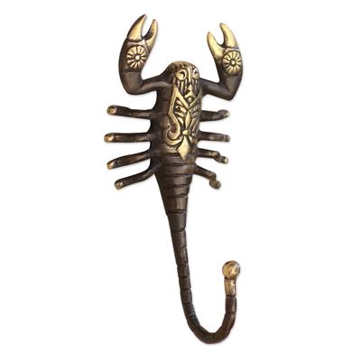 Hand Made Bronze Scorpion Wall Hook