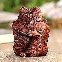 Suar wood statuette, 'My Brother'