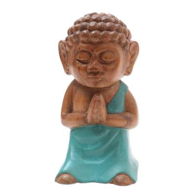 Indonesian Hand Carved Buddha Statuette