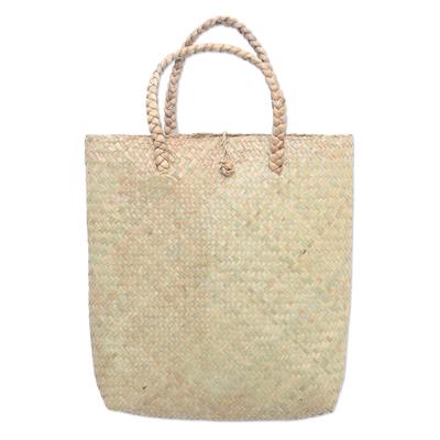Artisan Crafted Natural Fiber Tote Bag