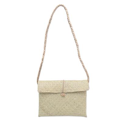 Hand Woven Natural Fiber Shoulder Bag