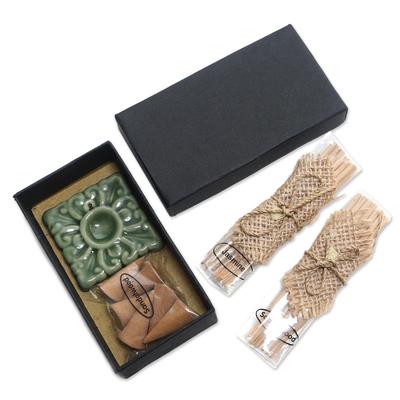 Handcrafted Sandalwood and Jasmine Incense Set
