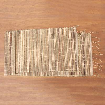 Natural fiber and cotton table runner, Traditional Setting