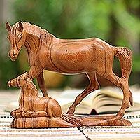 Wood sculpture, 'Unbridled'