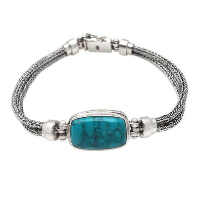 Sterling silver braided bracelet, 'Simple Magic' - Artisan Crafted Sterling Silver Braided Bracelet