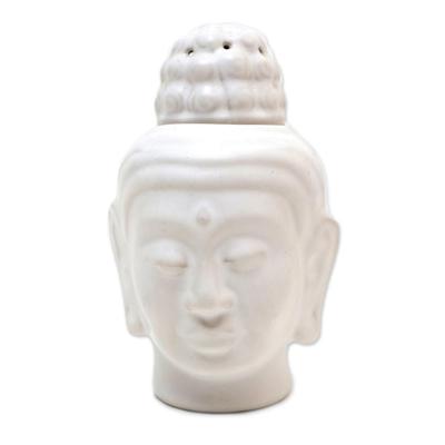 Artisan Crafted Buddha-Themed Ceramic Oil Warmer