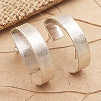 Sterling silver drop earrings, 'Don't Fade Away' - Handmade Sterling Silver Drop Earrings