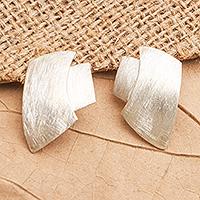 Sterling silver drop earrings, 'Desert Style' - Balinese Sterling Silver Drop Earrings