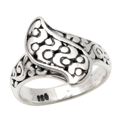 Sterling silver band ring, 'Hero's Journey' - Artisan Crafted Sterling Silver Band Ring