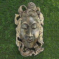 Wood mask, 'Queen of the Jungle'