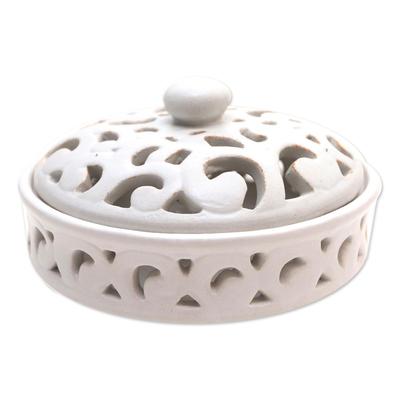 White Ceramic Mosquito Coil Holder
