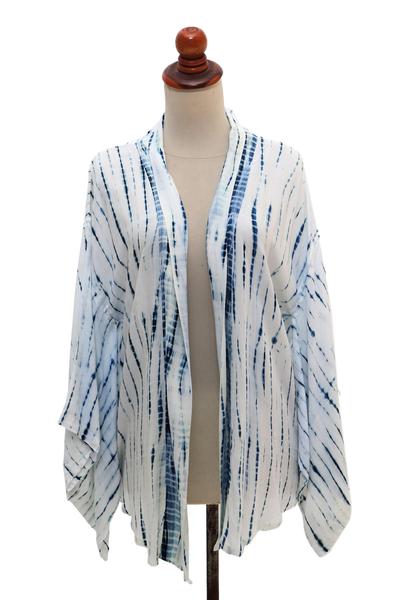 Eco-Friendly Rayon Kimono Jacket from Java