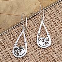Sterling silver dangle earrings, 'Party Night' - Hand Made Sterling Silver Dangle Earrings