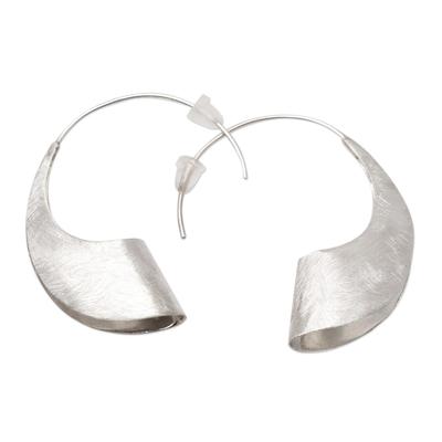 Sterling silver drop earrings, 'Windswept Beach' - Balinese Sterling Silver Drop Earrings
