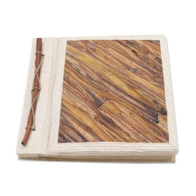 Fern Wood and Rice Paper Photo Album