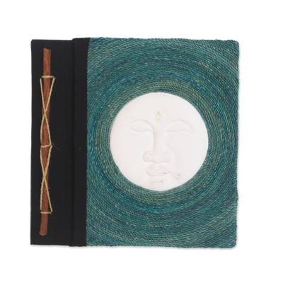 Hand Carved Albesia Wood Moon-Motif Photo Album