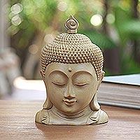 Wood sculpture, 'Temple Head'