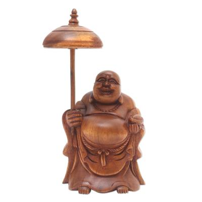 Hand Carved Buddha Statuette