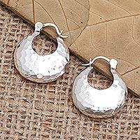 Sterling silver drop earrings, 'Glow Up' - Handmade Sterling Silver Drop Earrings